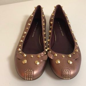 Marc by Marc Jacobs Rose Gold Mouse Ballet Flats